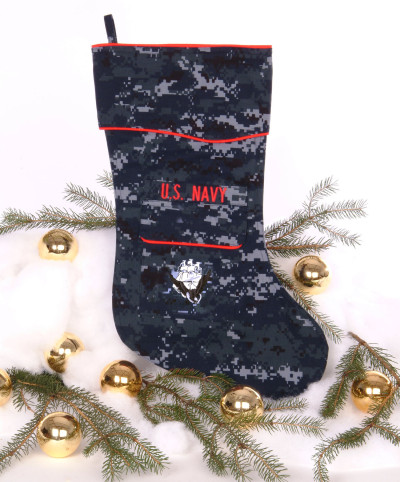 U.S. Navy Christmas stocking in NWU fabric