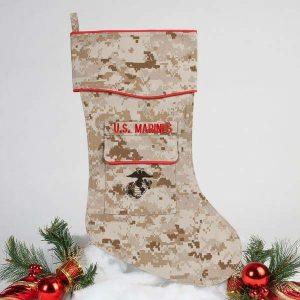 U.S. Marine Cristmas stocking - desrt cam fabric.