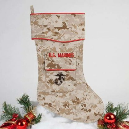 U.S. Marine Cristmas stocking - desrt cam fabric.