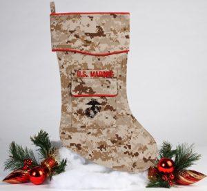 U.S. Marine Christmas stocking desert
