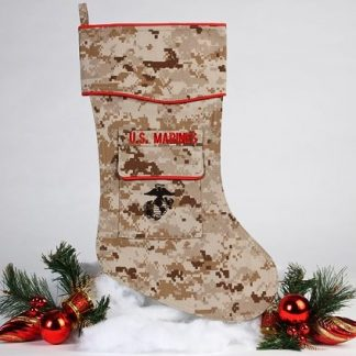 U.S. Marine Christmas stocking desert