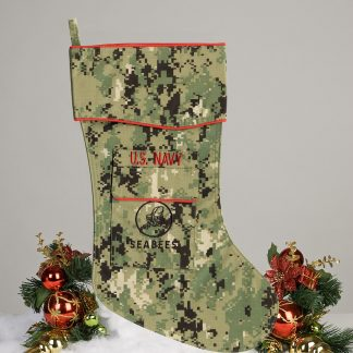 Navy Seabees Christmas Stocking