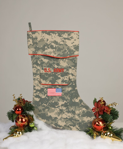 U.S. Army Christmas Stocking ACU fabric
