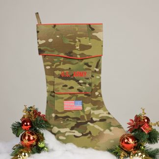Army Christmas stocking