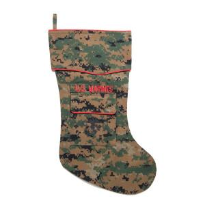 U.S. Marine Christmas stocking in Woodland MARPAT fabric