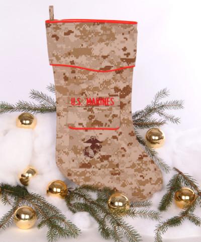 U.S. Marine Corps Desert Christmas Stocking