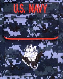 Navy NWU pocket detail