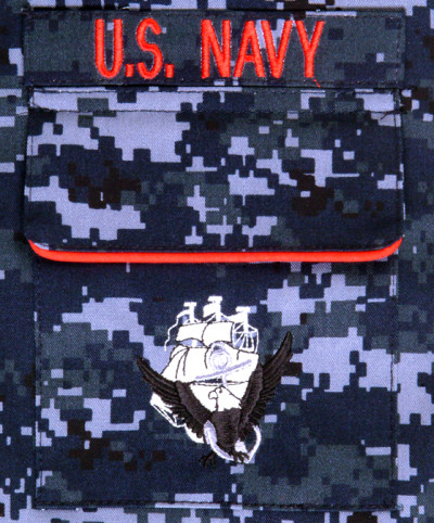 Navy NWU pocket detail