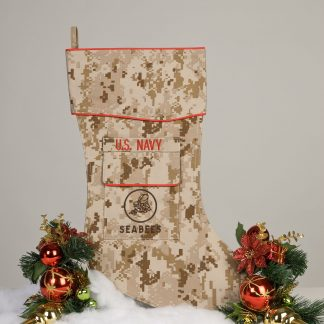 U.S. Navy Seabees Christmas stocking