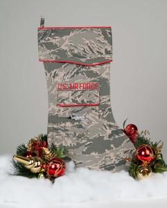 U.S. Air Force Christmas Stocking Tiger Stripe fabric