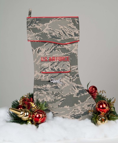 U.S. Air Force Christmas Stocking Tiger Stripe fabric