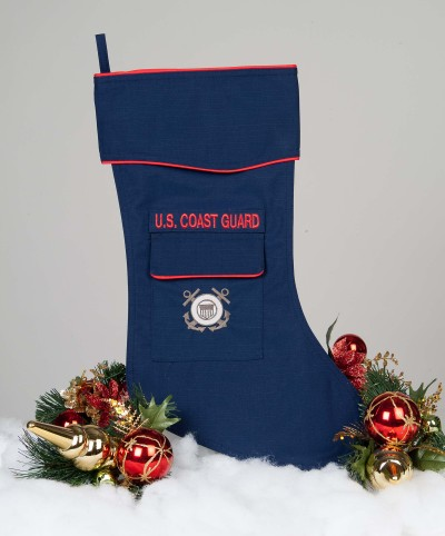 Coast Guard Christmas stocking.
