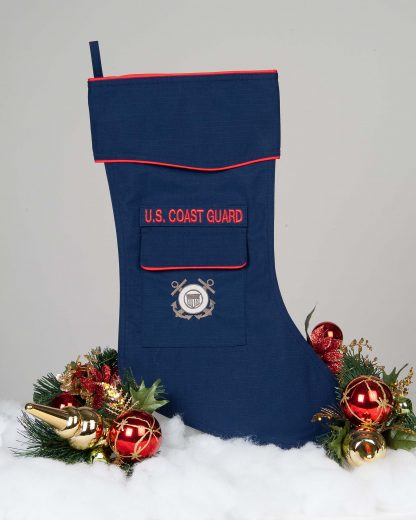 Coast Guard Christmas stocking.