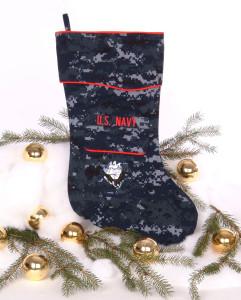U.S. Navy Christmas stocking in NWU fabric