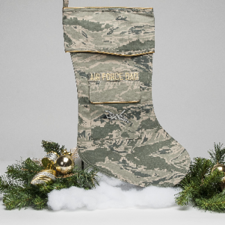 Air Force Dad Christmas stocking