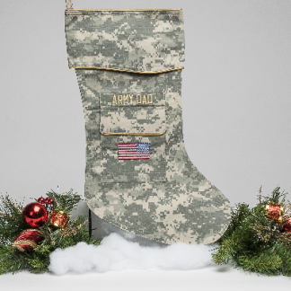 Army Dad Christmas stocking