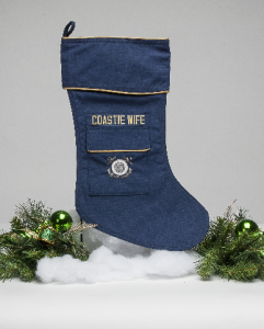 Coast Guard Wife Christmas stocking