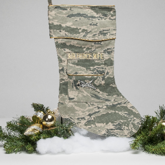 Air Force wife Christmas stocking