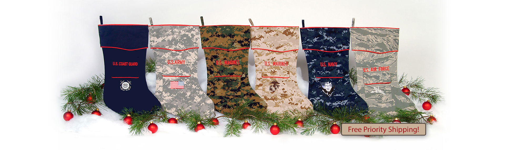 The Military Christmas Stocking Collection by Camosock (Group)