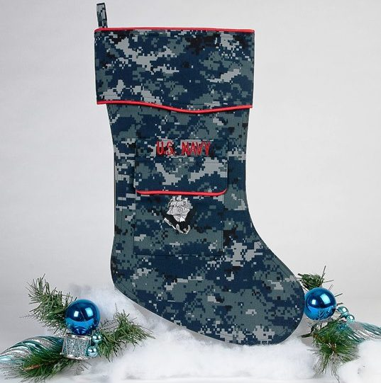 us navy christmas stocking - Blue Christmas Stockings