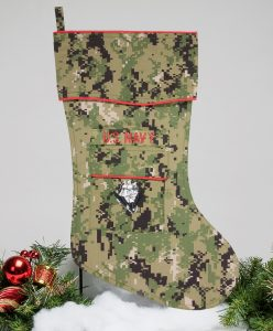 Navy Christmas Stocking