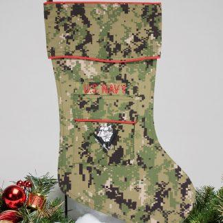 Navy Christmas stocking