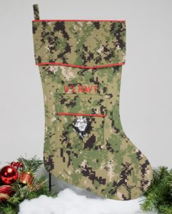 Navy Christmas stocking -NWUII