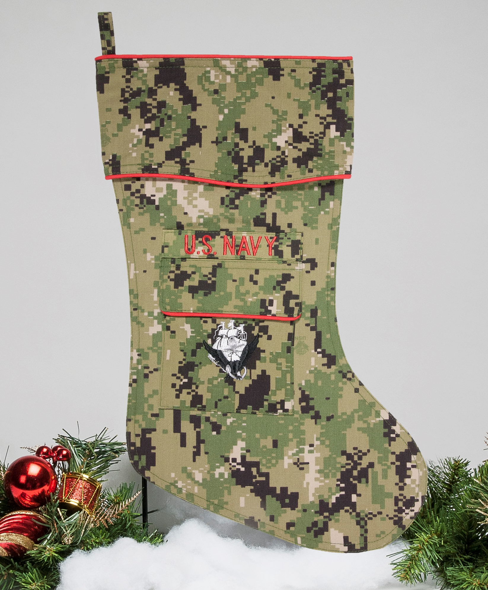 U.S. Navy Christmas Stocking | New NWU III Camo by Camosock