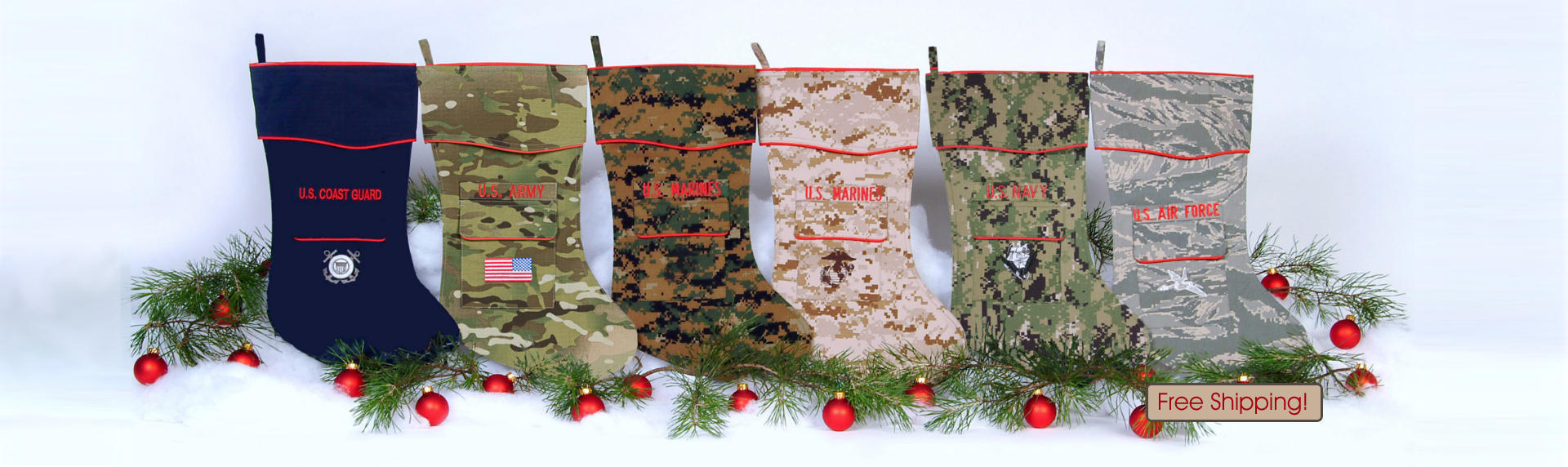 The Military Christmas Stocking Collection by Camosock (Group) 2017