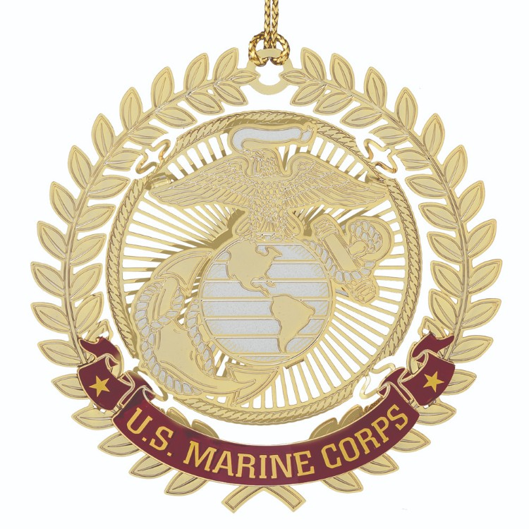 Marine Corps Christmas Ornament With The Eagle Globe Anchor Emblem