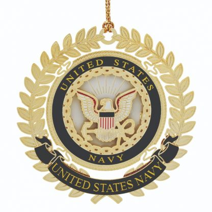 Navy Christmas Ornament with the US Navy emblem.
