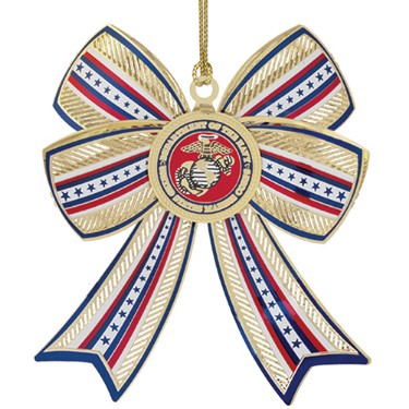 U.S. Marine Corps Christmas Ornament in the 3-D design.