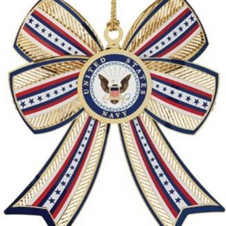U.S. Navy 3-D Bow Christmas Ornament.