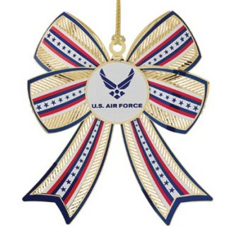 U.S. Air Force Christmas Ornament 3D Bow Design