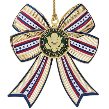 U.S. Army Christmas Ornament - 3-D Bow Style