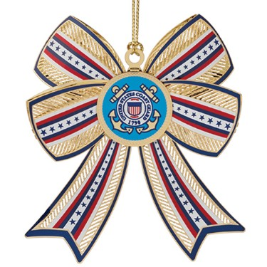 U.S. Coast Guard Christmas Ornament 3D style.