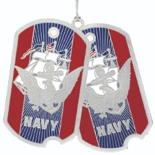 U.S. Navy Dog Tag Christmas Ornament