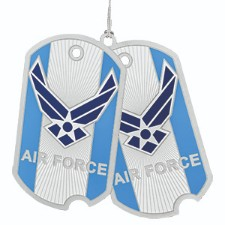 U.S. Air Force Dog Tag Christmas Ornament