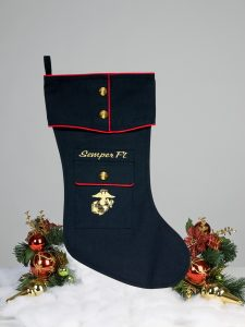 US Marine Dress Blue Christmas stocking style